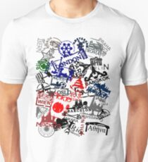 Travel Destination Passport Stamps Unisex T-Shirt