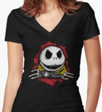 Sk8llington (collab with biticol) Women's Fitted V-Neck T-Shirt