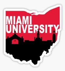 Miami Ohio Skyline Sticker