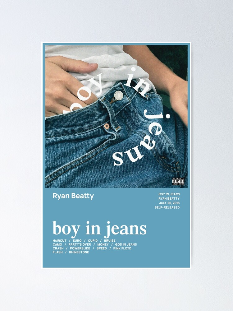 Ryan Beatty Boy In Jeans Tracklist Poster By Czrk Redbubble