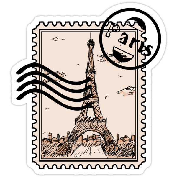 Paris Stamp Stickers By Pda1986