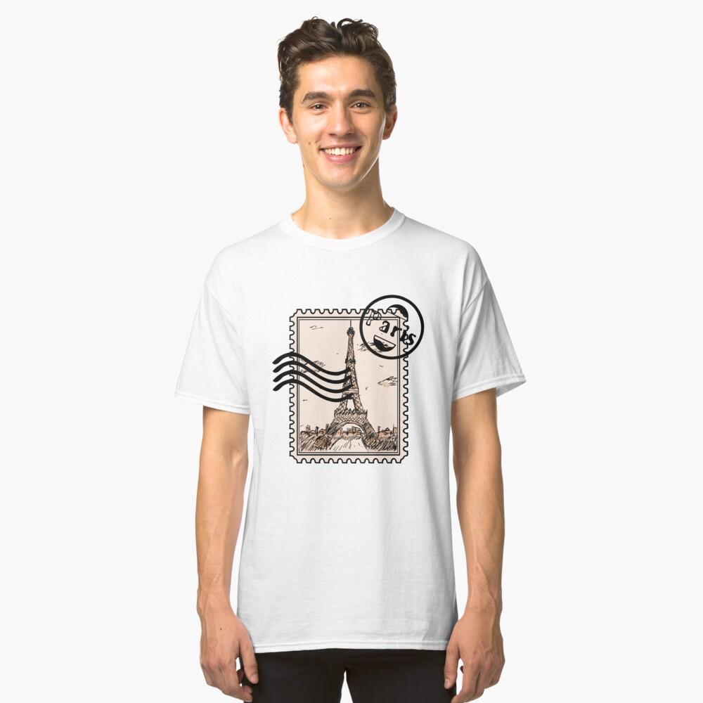 Paris Stamp Classic T-Shirt Front