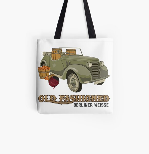 Old Fashioned Berliner Weiss All Over Print Tote Bag