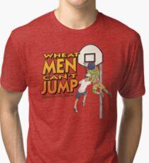 Wheat Men Can't Jump Tri-blend T-Shirt