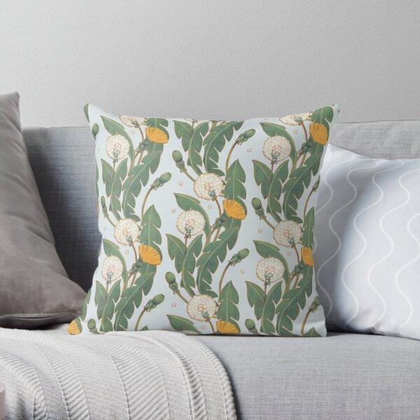 dandelion day pattern Throw Pillow