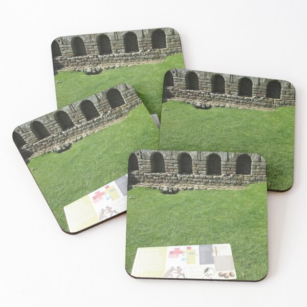 M.I. #112  ☼  The Changing Hall - Shot 1 (Hadrian's Wall) Coasters (Set of 4)