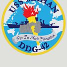 USS Mahan (DDG-42) Navy Patch by shortsleeve