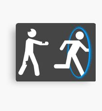 In Case of Zombies Use Portals Canvas Print