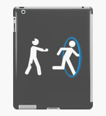 In Case of Zombies Use Portals iPad Case/Skin