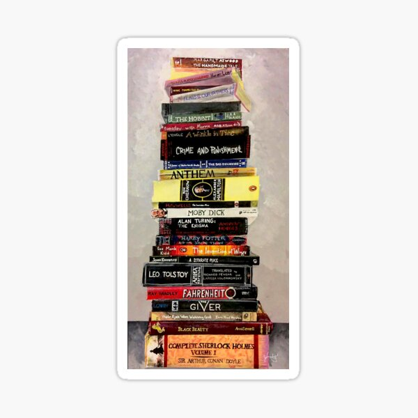 Stack o Books Sticker