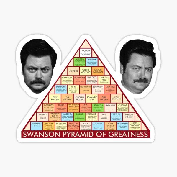 Ron Swanson Pyramid Sticker