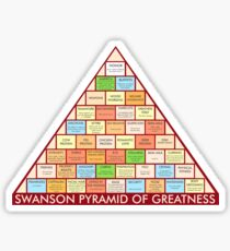 Ron Swanson Pyramid of Greatness Sticker