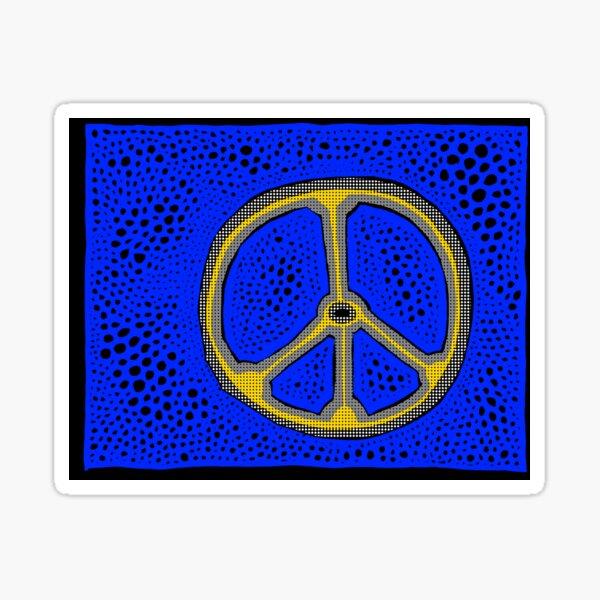 Everlasting Peace FARBIGER HALBTON Sticker
