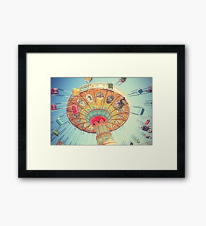 Swing, Swing At The Carnival Framed Print