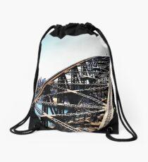 Harbour Bridge Up The Pylon Drawstring Bag