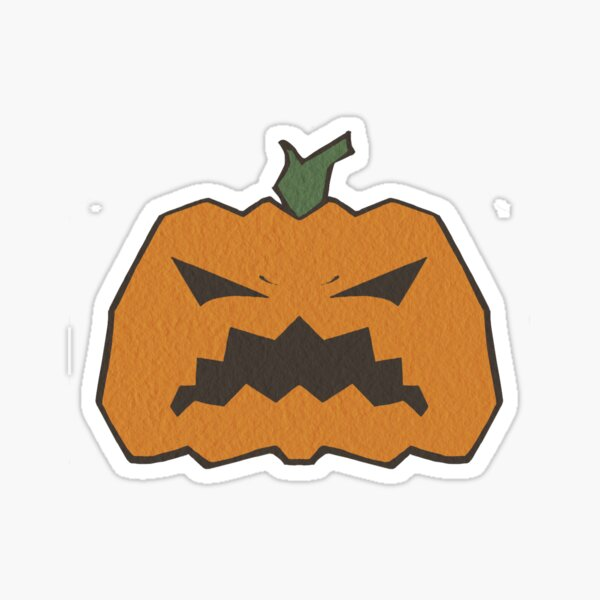Angry Pumpkin Sticker