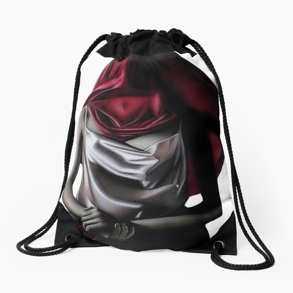 Perceived Boundaries (Colour pencil drawing) Drawstring Bag