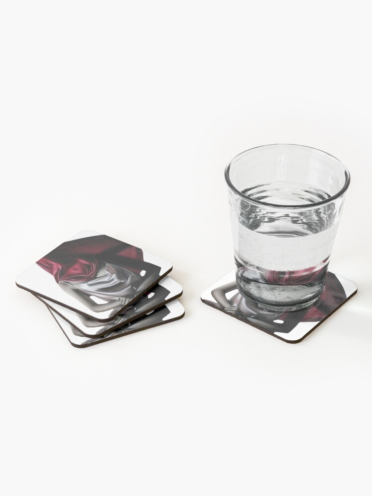 Alternate view of Perceived Boundaries (Colour pencil drawing) Coasters (Set of 4)