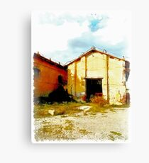 Island Caprera: military archeology Canvas Print