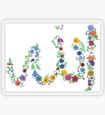 Allah in Flora Transparent Sticker