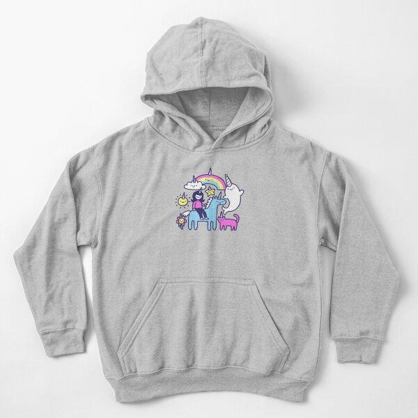 Unicorns Everywhere! Kids Pullover Hoodie