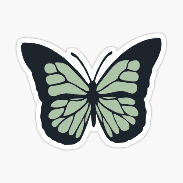 Sage Green Butterfly Sticker Sticker