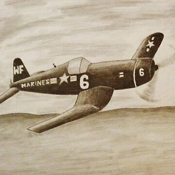 Corsair Marine Plane by karriezenz