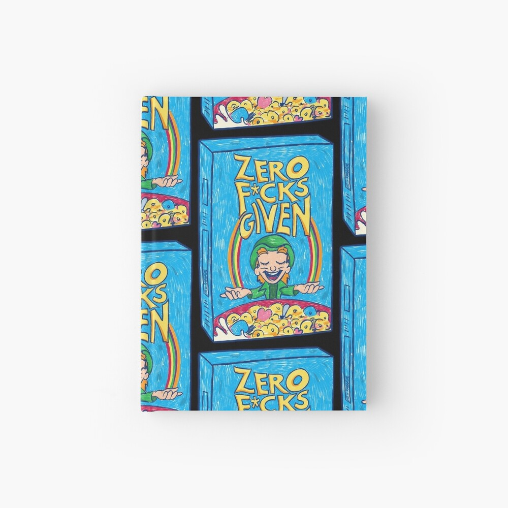 Zero Fucks Given (Black) Hardcover Journal