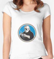 Tig Welder Welding Circle Retro Women's Fitted Scoop T-Shirt