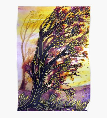 Trees in the Breeze Poster