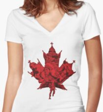 Canada Women's Fitted V-Neck T-Shirt