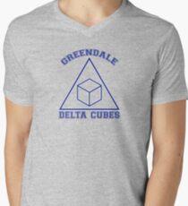 Greendale Delta Cubes Frat Men's V-Neck T-Shirt