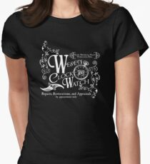 Wesen Clock and Watch Repair Women's Fitted T-Shirt