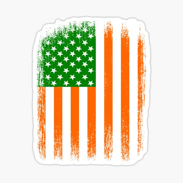 Irish American Flag Sticker