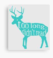 The Teal Deer Canvas Print