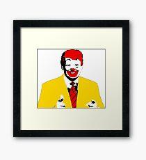 Lámina enmarcada Ronald McDonald Trump