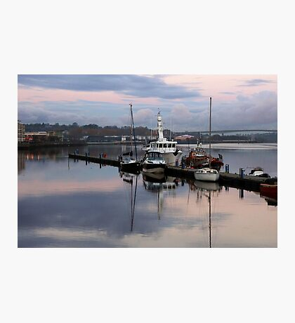 Winter mooring Photographic Print
