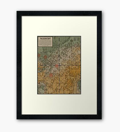 Here there be robots Framed Print