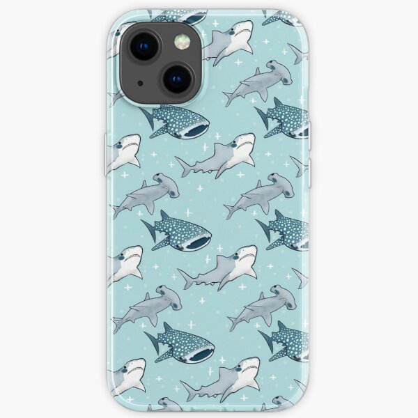 Shark Pattern iPhone Soft Case