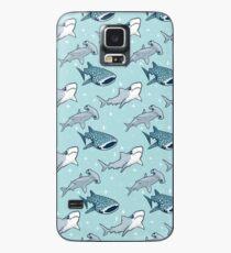 Funda/vinilo para Samsung Galaxy Patrón de tiburón