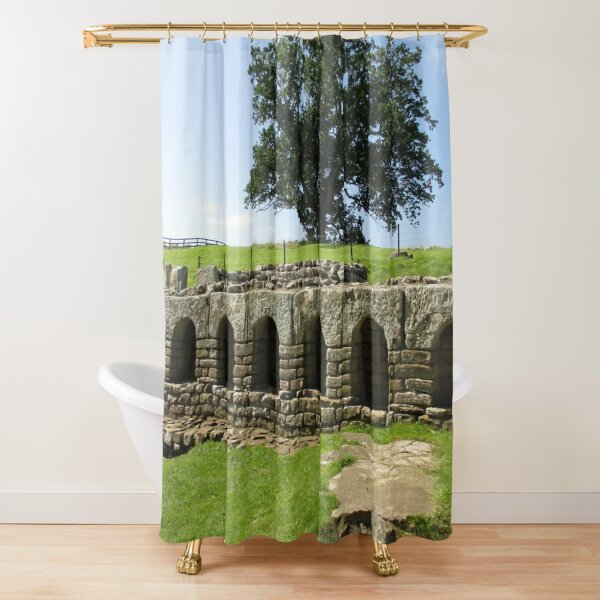 M.I. #113  ☼  The Changing Hall - Shot 2 (Hadrian's Wall) Shower Curtain
