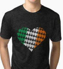 Irish Flag Heart Tri-blend T-Shirt