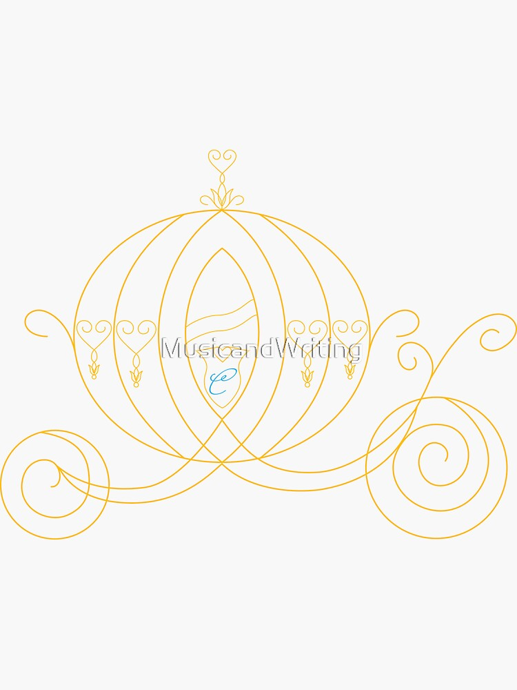 Princess Carriage - Gold by MusicandWriting