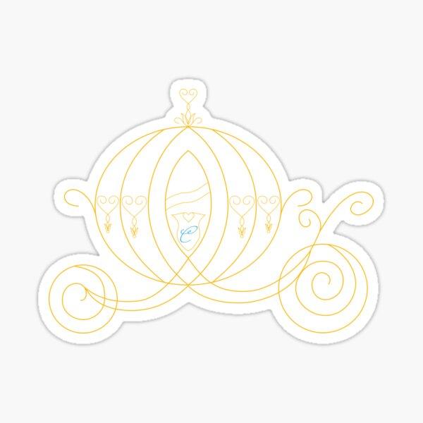 Princess Carriage - Gold Sticker