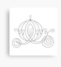 Princess Carriage - Black Canvas Print