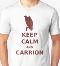 keep calm and carrion buzzard grunge red stripe T-Shirt