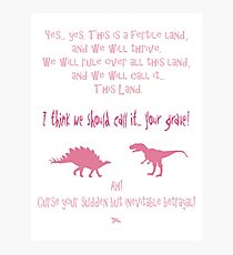 curse your sudden but inevitable betrayal, firefly, pink Photographic Print