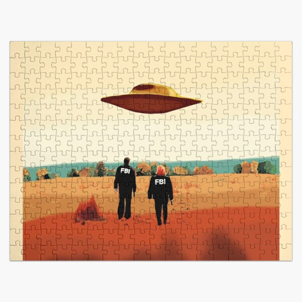 The X Files I want to believe FBI poster  Jigsaw Puzzle