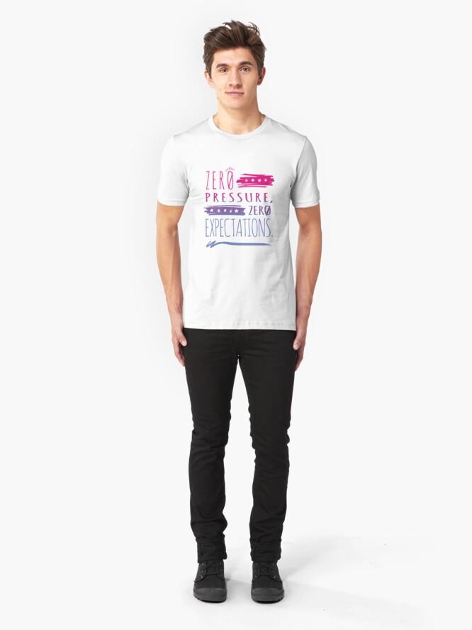 Alternate view of No Pressure - Bi Slim Fit T-Shirt