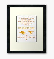 curse your sudden but inevitable betrayal, firefly, orange Framed Print